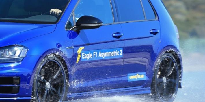 Goodyear Eagle F1 Asymmetric 3, la prueba de rezulteo