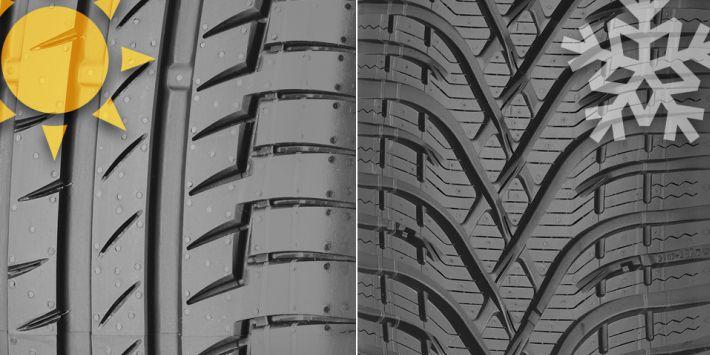 Diferencias neumáticos de invierno y de verano