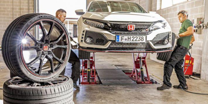 Los mejores neumáticos deportivos de 2019: la prueba en el Honda Civic Type R de la revista Sport Auto